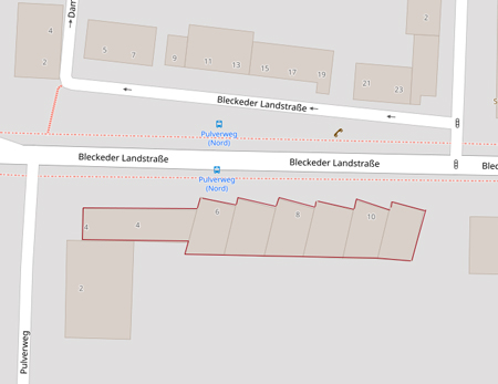 Lüneburg, Bleckeder Landstraße, Fa. Wertgrund, Karte