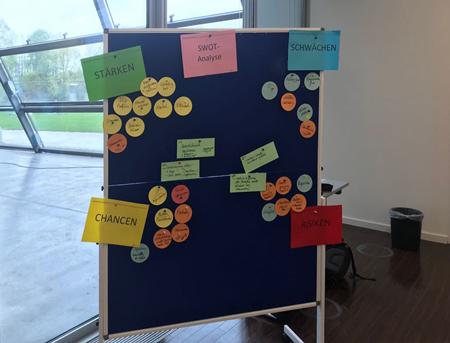 Hamburger Immobilien Wert GmbH Workshop zum Thema Kerprozess-Optimierung - da kam einiges auf den Tisch und an die Wand.