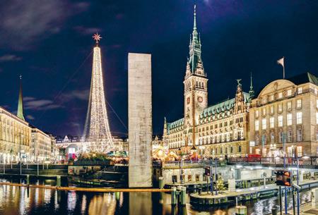 """Andreas Vallbracht: """"Schleusenbrücke / Rathausmarkt"""". © Kinderkrebs-Zentrum e. V. / Urheber."""